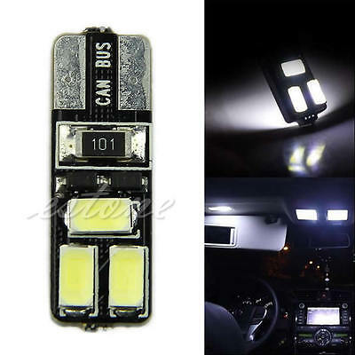 T10 White 194 W5W 5630 LED 6 SMD CANBUS ERROR FREE Car Side Wedge Light Bulb New