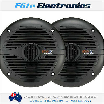 "Boss Audio Mr60B 6.5"" Black Pair 2-Way 200W Marine Boat Outdoor Stereo Speakers"