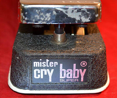 vintage jen mister cry baby super wah / vol with original white fasel