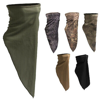 Tactical Military Army Half Face Neck Gaiter Warmer Mask Snood Scarf Scrim Camo