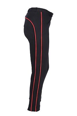 Horse Riding Ladies Soft Stretchy Jodhpurs/jodphurs Jods Black With Red Piping