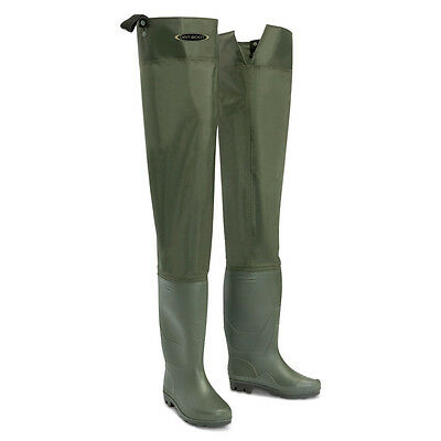 Nylon Hip Waders - Sizes 4 - 13 Waterproof Fly Coarse Fishing Thigh Boots