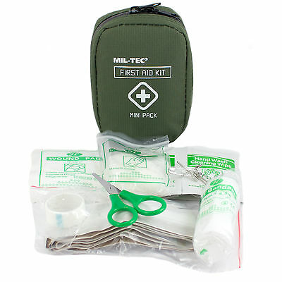Mil-Tec Military Army Cadet TA Airsoft EDC Mini First Aid Kit Box Pack Pouch NEW