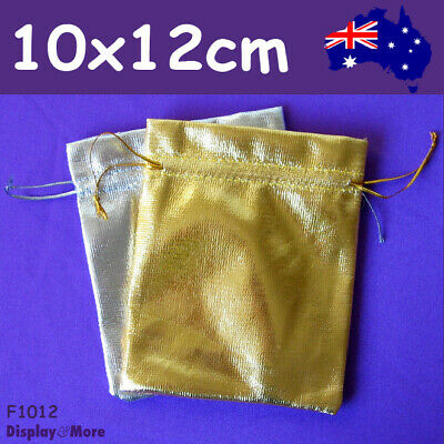 BEST Value 100 Jewellery Gift Pouch Bags-10x12cm-Gold or Silver | AUSSIE Seller
