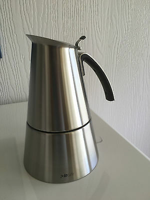electric espresso coffee maker stainless steel 6 cup moka pot