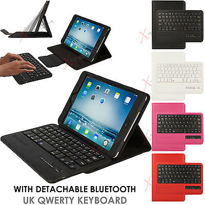 for Apple iPad Mini 5 4 3 2 1 Bluetooth Keyboard PU Leather Case with Stand