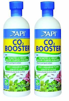 2 x API Co2 Booster 473 ML Each Planted Freshwater Tropical Fish Tank Aquarium