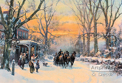 Home Coming by Frank F. English (Art Print of Vintage Art)