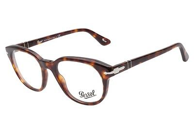 52ec548785 Persol Designer Mens Eyeglasses 3052V 24 Havana Brown Frame 52mm New Italy  RX