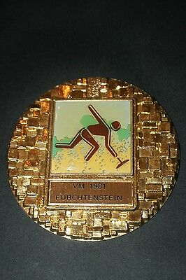 BAD016 Medaille Eisstockschiessen VM Forchtenstein 1981