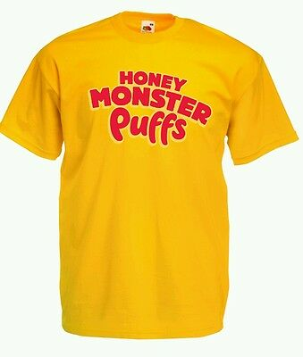 Honey Monster Sugar Puffs TShirt All Colours & Sizes Retro Style New Cereal