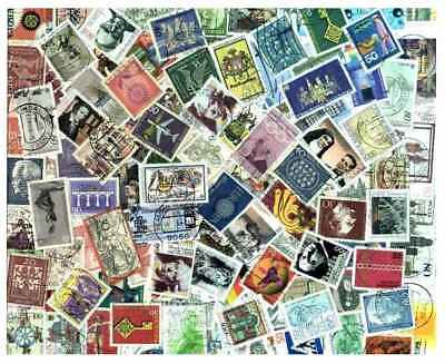 West Germany Stamp Collection - 200 Different Large Pictorials
