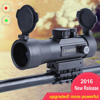 New 2x40RD Red Green Dot Sight Scope Tactical Holographic Reflex Sight Scope