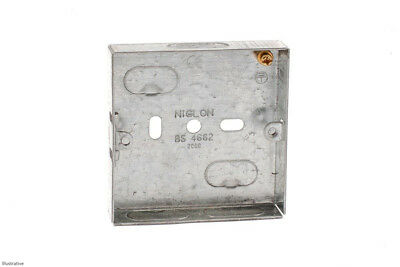 Single/One Gang Metal Back Box 16mm deep Steel Box for Electric Light Switches