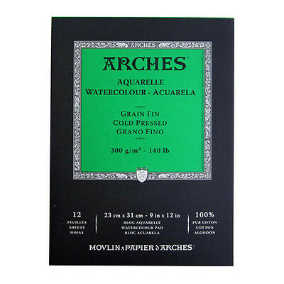CANSON Aquarellpapier ARCHES fein 230x310mm 12 Blatt