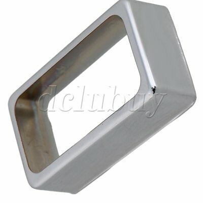 Chrome Metal Copper Lid Open Frame Humbucker Pickup Cover for Electric Guitar