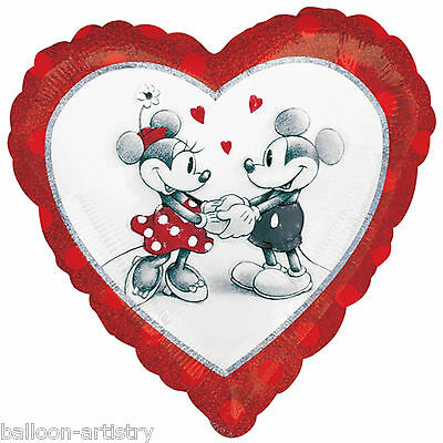 "18"" Disney's Mickey & Minnie Classic Love Valentine's Day Foil Heart Balloon"