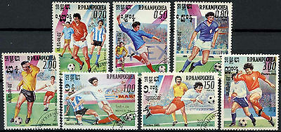 Kampuchea 1985 SG#590-6 World Cup Football Cto Used Set #D6333