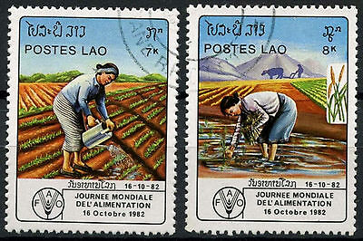 Laos 1982 SG#597-8 World Food Day Cto Used Set #D6359