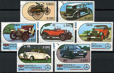 Kampuchea 1986 SG#720-6 Motor cars Cto Used Set #D6336