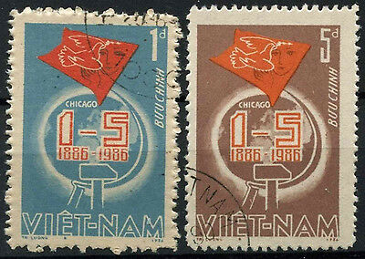 Vietnam 1986 SG#937-8 May Day Cto Used Set #D6100