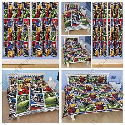 Avengers Team Duvet Covers In Single & Double + Matching Curtains Available New