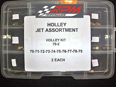 Holley Jet Kit Assortment Carb Carburetor GAS MAIN 70-79 2 EACH 20 PACK 70-2
