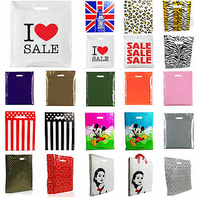 PLASTIC CARRIER BAG -Designer bags/Sale bags/ Printed Strong Gift shopping Bag