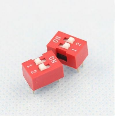 20Pcs Slide Type Switch Module 2.54mm 2 Position Way DIP Red Pitch