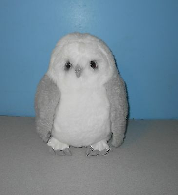 "12"" Lou Rankin Best Friends Wordsworth Snowy Owl Grey & White Stuffed Plush Bird"