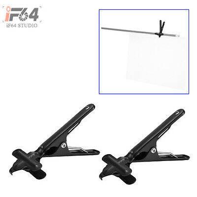 2pcs Background Support Muslin Holders Clamps for Green Screen Backdrop Stand