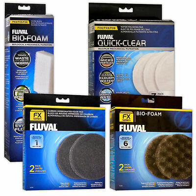 Fluval Fx5 Fx6 Filter Bio Foam Water Polish Carbon Media Pads Aquarium Fish Tank