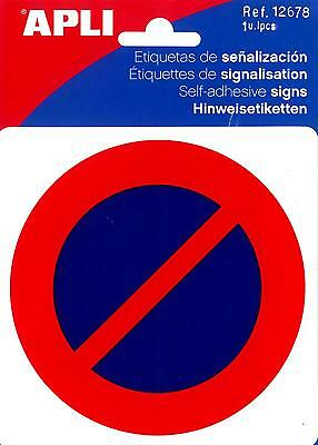 12678 Pictogramme Interdiction de se stationner 114x114 mm