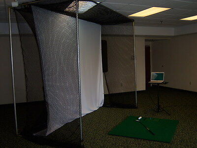 Golf simulator projection hitting impact screen 9ft tall x 9ft 6inches wide