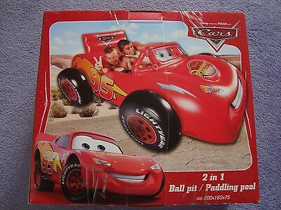 Disney Cars 2 in 1 Ball Pit and Paddling Pool