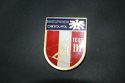 BAD025 Ansteck-Medaille Bundessportheim Obergurgl, Test III