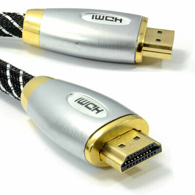 1.5m HQ Braided 4k 2k High Speed HDMI 1.4 3D TV Cable Metal Ends [007644]