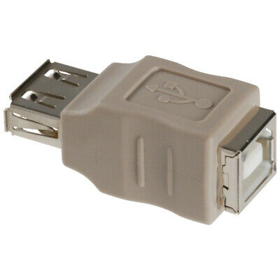 USB 2.0 Adapter A Female to B Female (Grey) [002738]