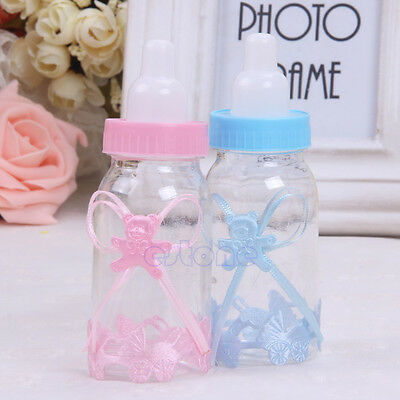 Newest 12pcs Candy Box Baby Shower Bottle Baptism Party Christening Favours Gift
