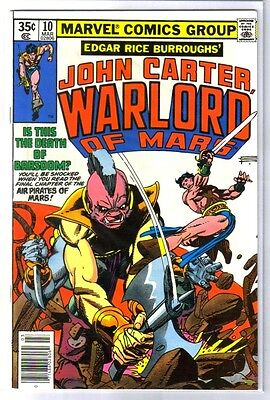 JOHN CARTER Warlord of Mars#10 Death of Barsoom? Marvel Comic Book ~ NM-