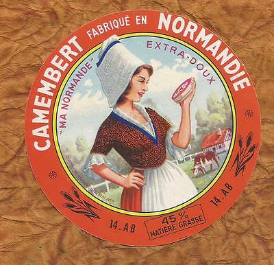 Calvados  Etiquette Camembert Vallee Clecy