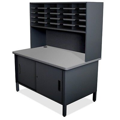 Marvel Mailroom 20 Slot Mailroom Organizer with Cabinet, Riser-60 H x 48 W x 30D