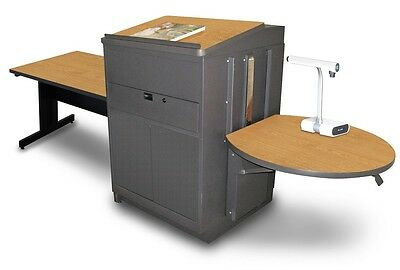 Marvel Office Furniture Vizion Rectangular Table With Media Center and Lectern