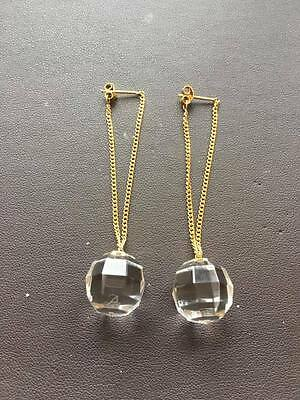Baccarat 18ct Yellow Gold Facettes Drop Earrings 2604087