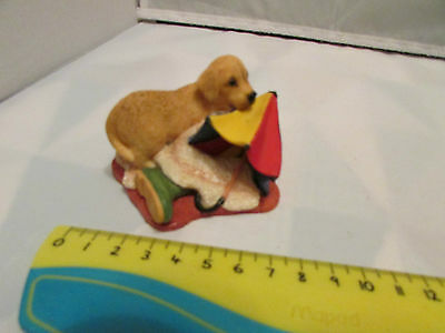 Collectible World Studios RAINY DAYS Tails of Love PUPPY / Dog Figure 1997