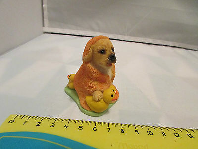 Collectible World Studios BATH TIME Tails of Love PUPPY / Dog Figure 1997