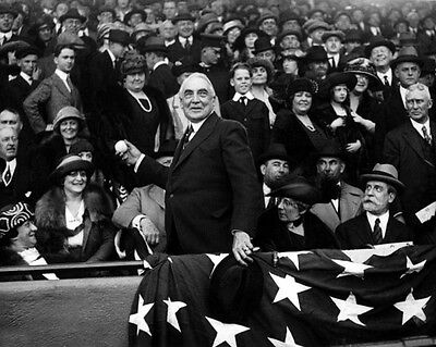 29th US President WARREN HARDING Glossy 8x10 Photo 1st Pitch Portrait Poster