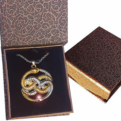 AURYN Never Ending Story Necklace Pendant Neverending Magic Gold Silver Box New