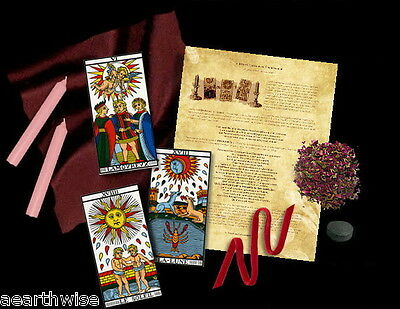 ATTRACT LOVE OR LOVER TAROT SPELLCRAFT KIT Wicca Witch Pagan Goth RITUAL KIT