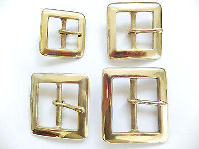 """CAST SOLID BRASS [ 1/2"""" - 2"""" ]  SQUARE BELT BUCKLE [ 12 mm - 50 mm ]"""